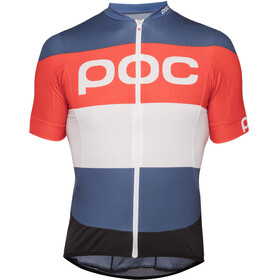 POC Essential Road Logo Bike Jersey Shortsleeve orange/blue